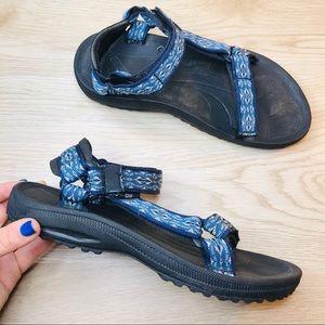 🔥teva hiking comfort sandals blue straps 8